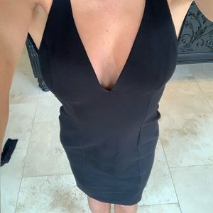 Lulus black criss cross dress size med